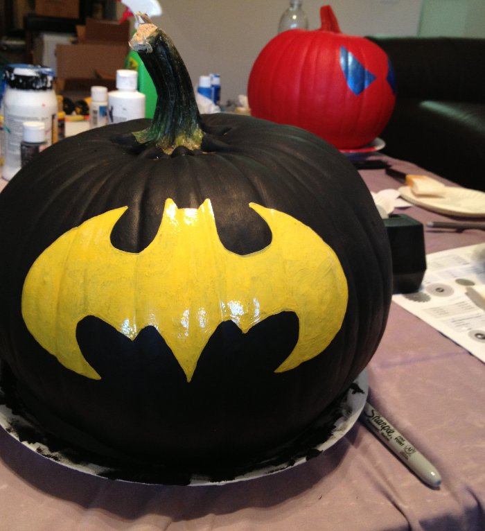 Superhero Painted Pumpkins