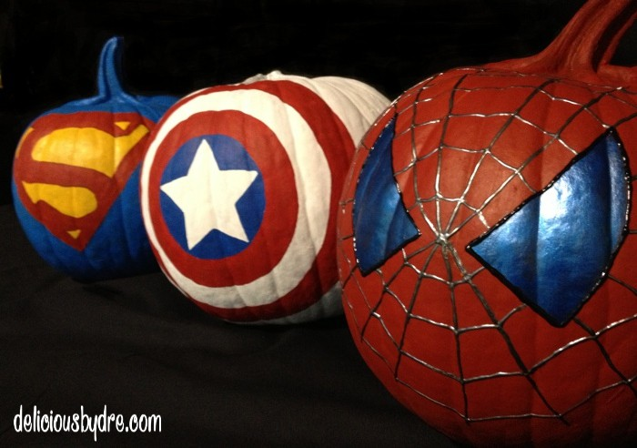Superhero Painted Pumpkins Delicious By Dre