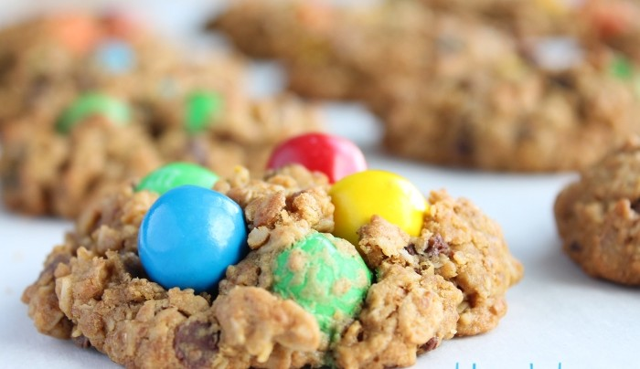 healthy(ish) monster cookies