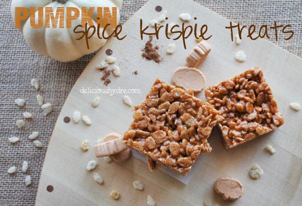 pumpkin spice-krispie-treats (gluten-free!)