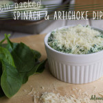 protein-packed healthy spinach & artichoke dip