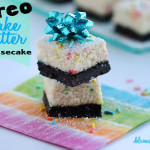 oreo cake batter birthday cheesecake bars