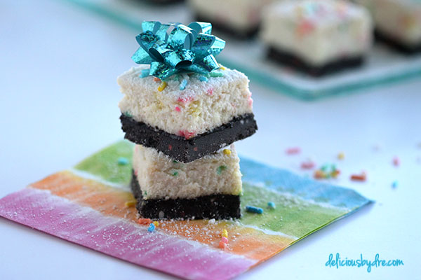 oreo cake batter cheesecake bars