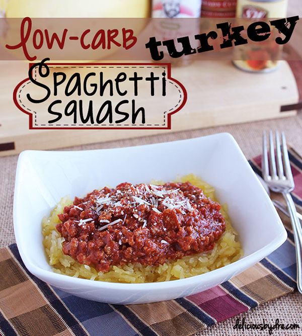 low carb turkey spaghetti squash