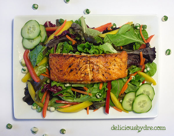 asian salmon salad