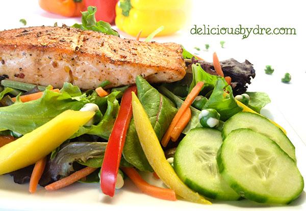 asian salmon salald