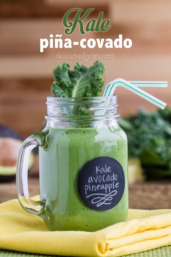 kale pina-covado protein smoothie