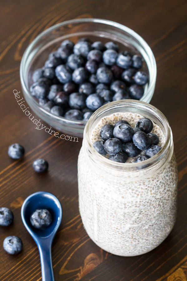blueberry vanilla chia seed pudding