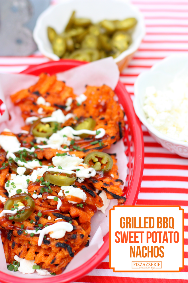 grilled bbq sweet pot nachos
