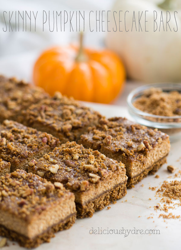 skinny pumpkin cheesecake bars (gluten free)