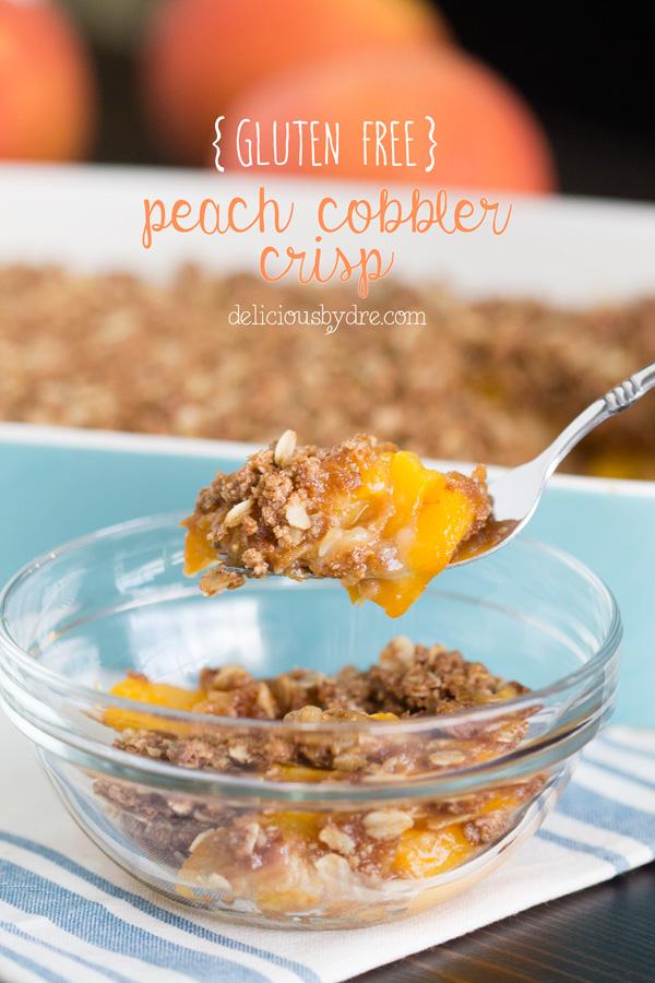 gluten free peach cobbler crisp recipe