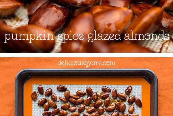 pumpkin spice glazed almonds