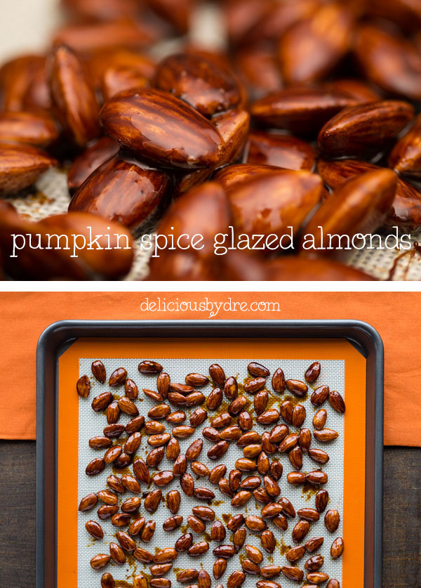 pumpkin spice glazed almonds (vegan and paleo)