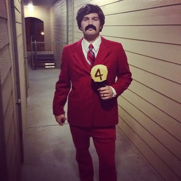 ron burgundy halloween costume