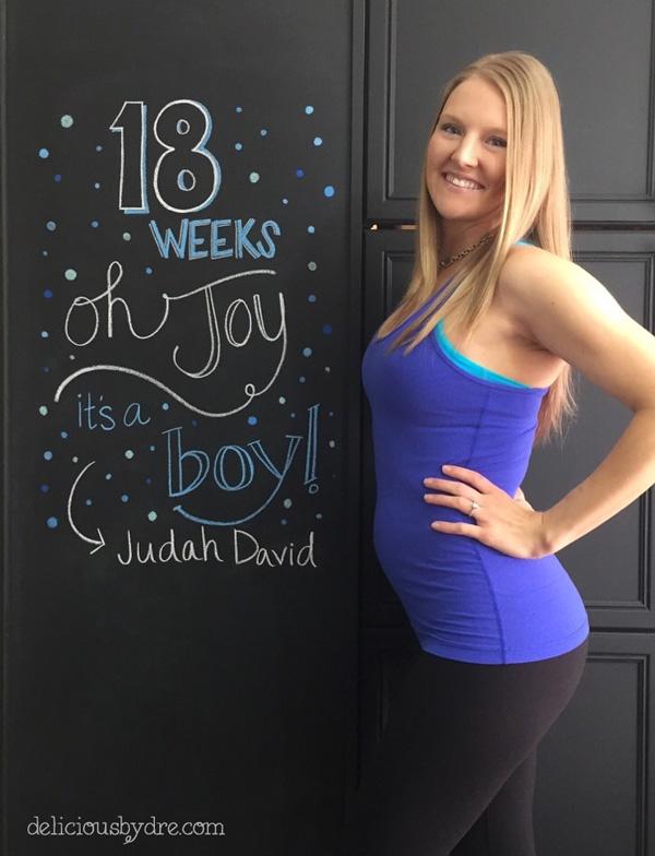 18 weeks pregnancy chalkboard tracker