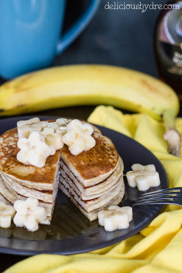 banana protein pancakes; gluten free & grain free