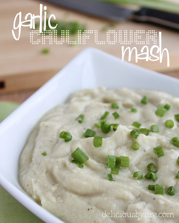 garlic cauliflower mashed potatoes...healthy & low carb