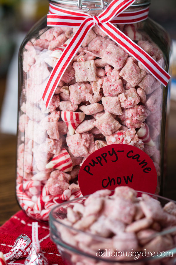 puppy cane chow: peppermint puppy chow