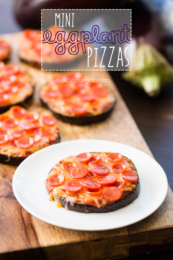 healthy mini eggplant pizzas