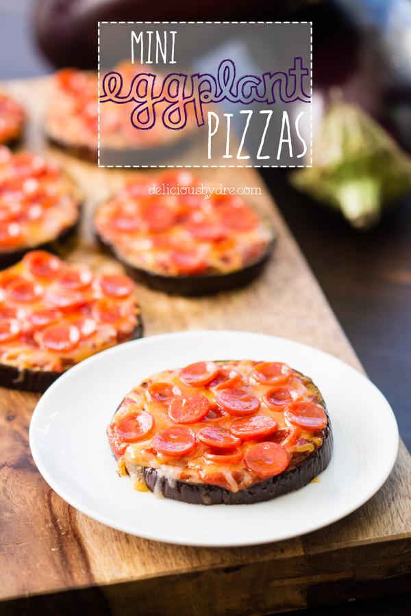 healthy mini eggplant pizzas