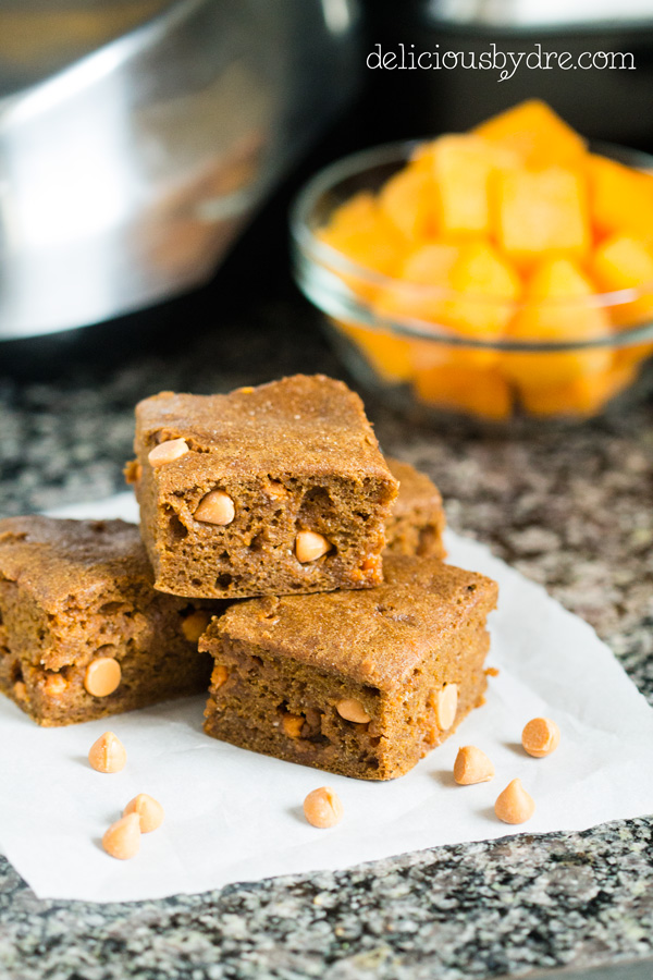 butterscotch butternut blondies