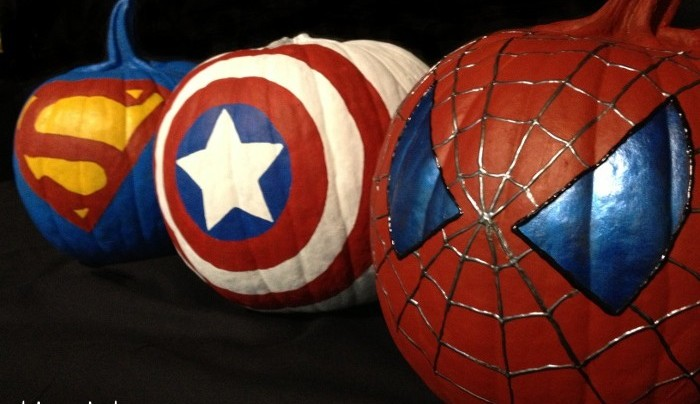 superhero pumpkins