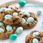 easter roboin's nest (healthy) monster cookies