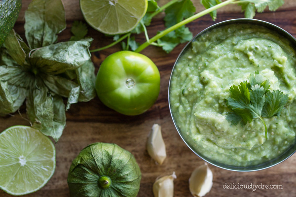 spicy avocado-tomatillo dip