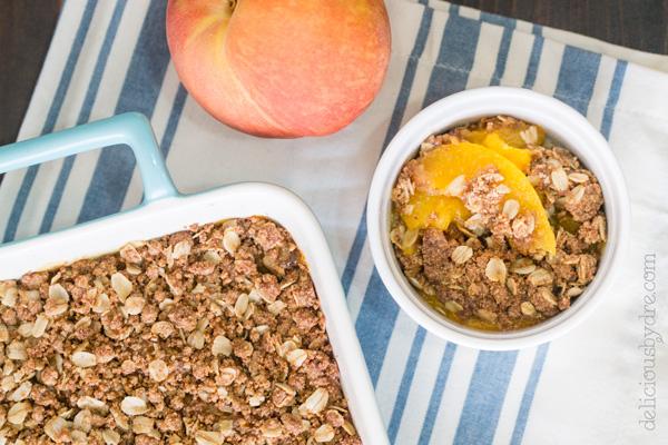 week 13: gluten free peach cobbler crisp