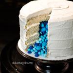 gluten free vanilla layer cake (gender reveal!)