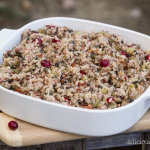 bacon cranberry rice stuffing thanksgiving recipe