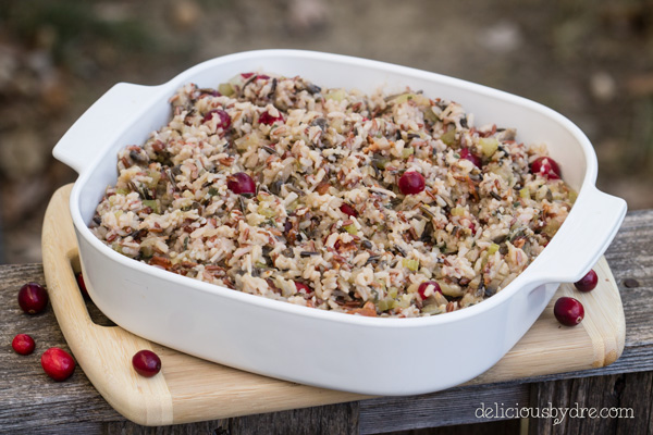 week 23: bacon-cranberry rice stuffing {gluten free!}